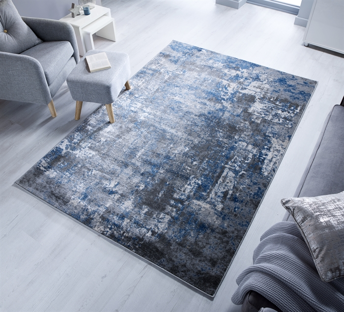 Cocktail Wonderlust Blue Grey Modern Abstract Rugs