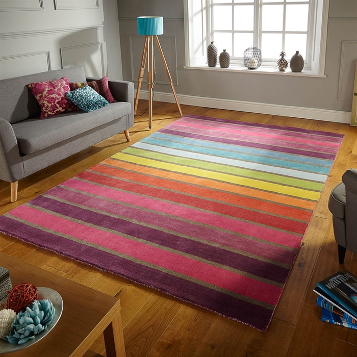 Illusion Candy wool Rugs