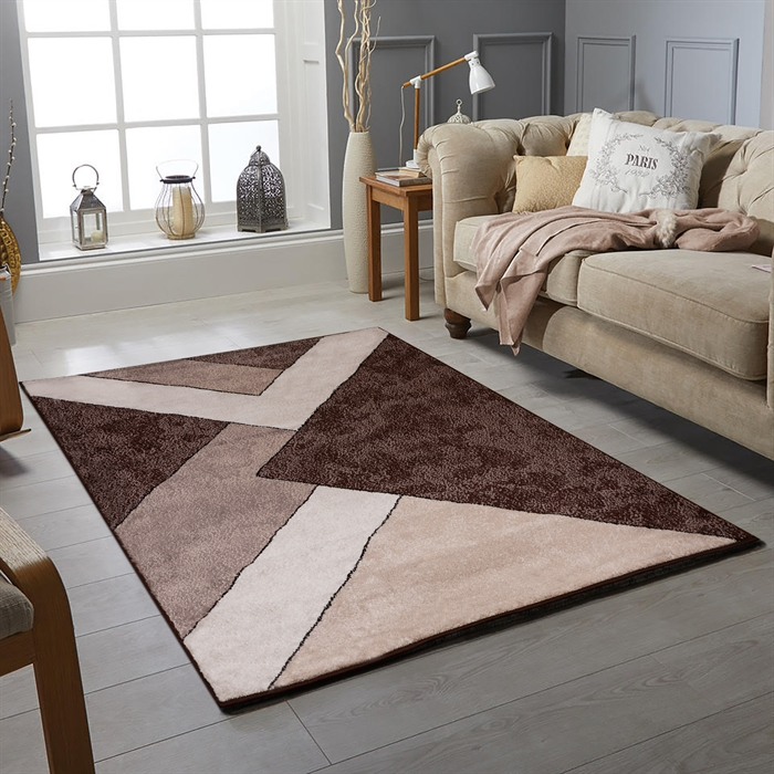 OXFORD BROWN MODERN  RUGS