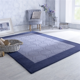 Hex  Grey Wool Rugs