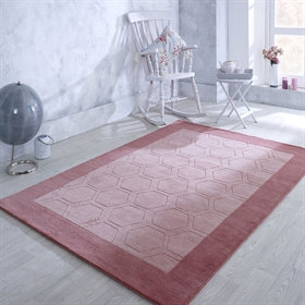 Hex  Pink Wool Rugs