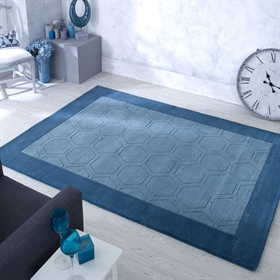 Hex  Teal Wool Rugs