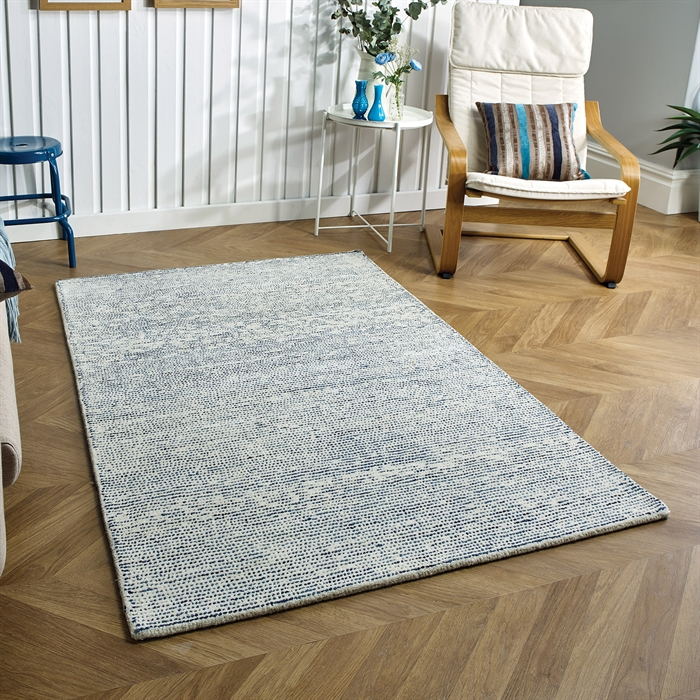 Milano Blue Wool Rug
