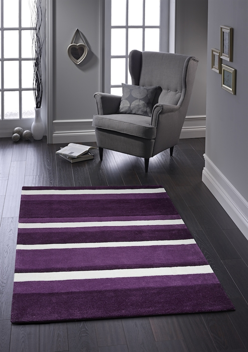 Boston Stripe Purple Rug