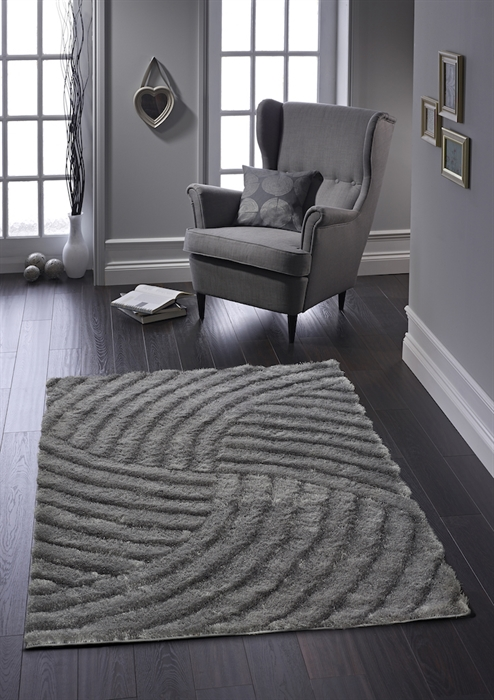 Dallas Charcoal Shaggy Rug