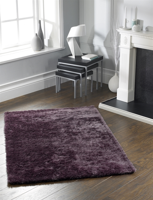 Shimmer purple Shaggy Rug