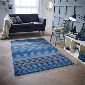 Carter Blue Wool Rugs