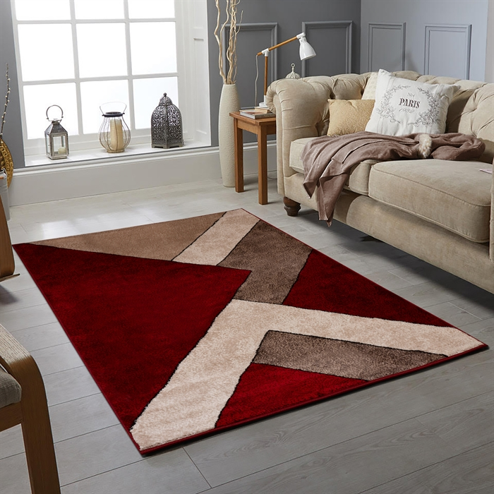 OXFORD RED MODERN  RUGS