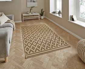 Cottage CT5581 Natural Brown flat weave Rugs