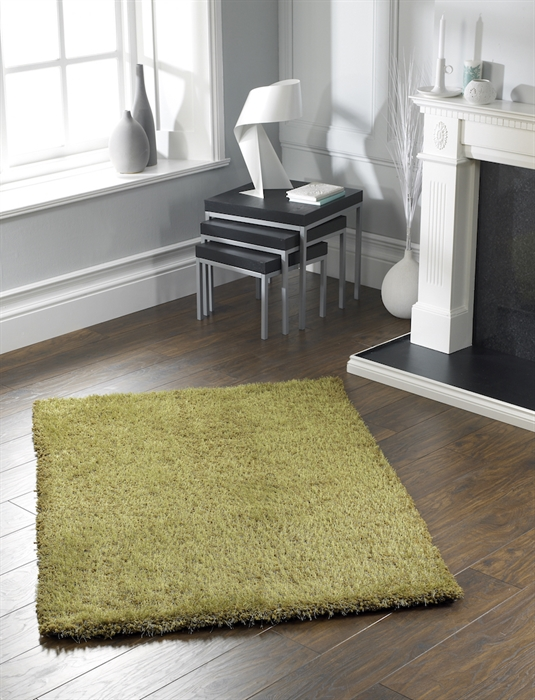 Chicago Olive Shaggy Rug