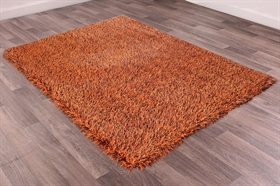 Balotelli choc orange Modern Shaggy Rugs