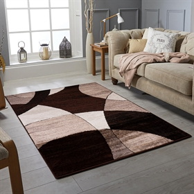 GLAMOUR BROWN  MODERN  RUGS