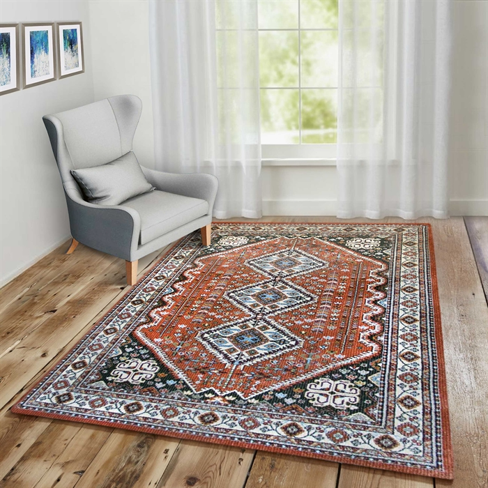 Pazirik 1553 Traditional Vintage Terracotta Area Rugs