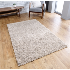 Isla Light Beige Plain Shaggy Rug