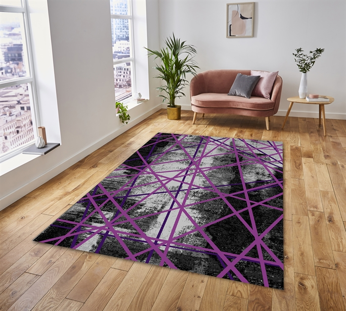 Trap Purple Modern Rug