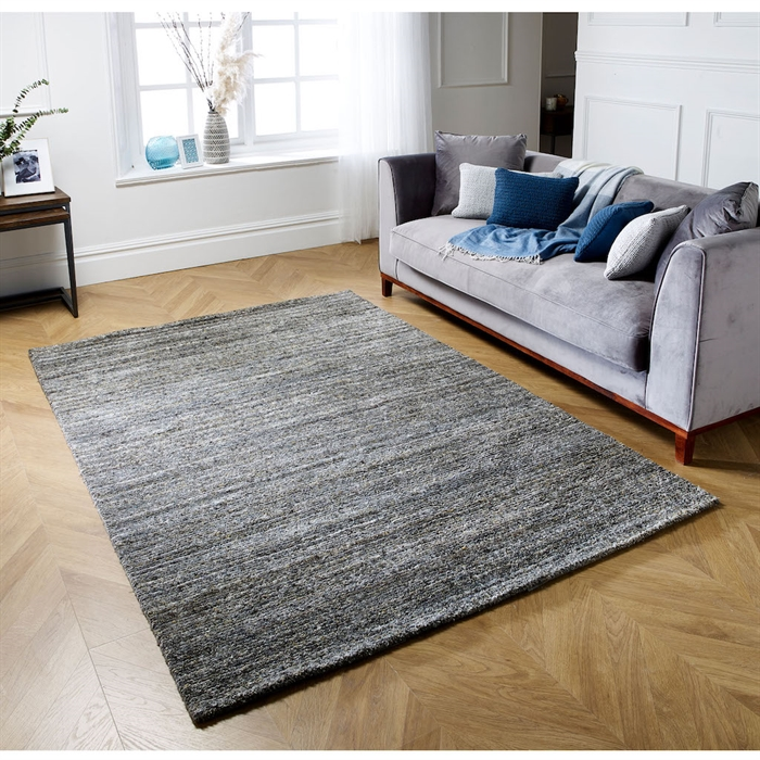Vista Grey Wool Modern Rugs