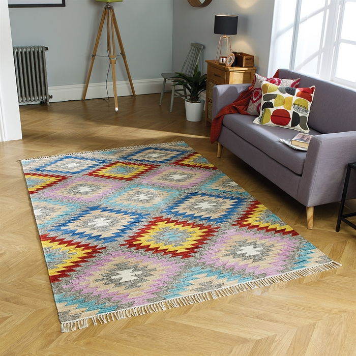 Kasa Talca Rugs in Multicolours
