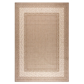 Greek key flatweave anti slip Brown Rugs