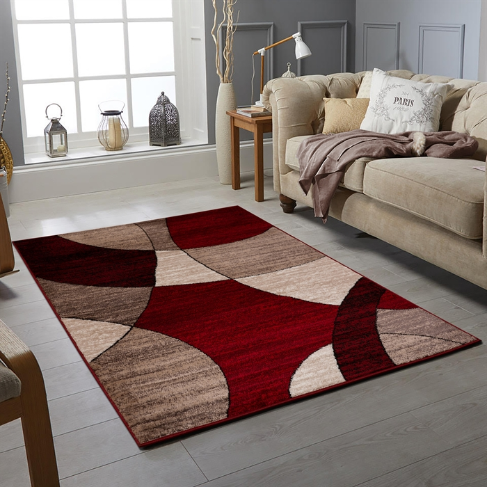 GLAMOUR RED  MODERN  RUGS